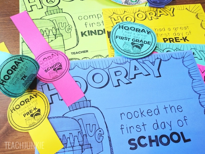FREE First Day of School Bracelets with matching certificates