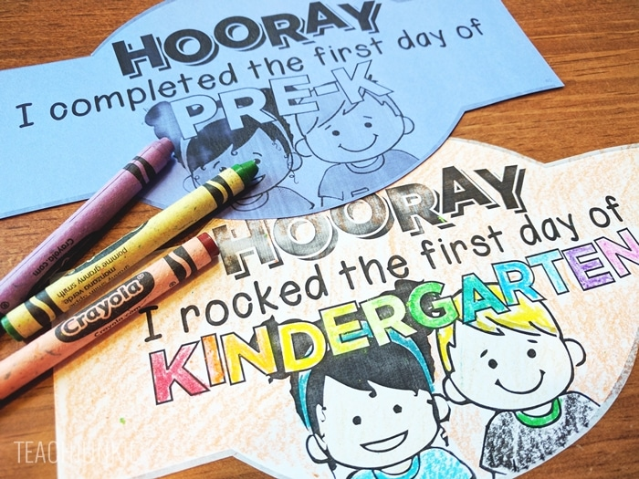 FREE First Day of School Headband Crowns for kindergarten and pre-k