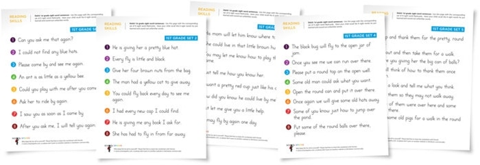 FREE Sight Word Sentences - for kindergarten, first grade, second grade and third grade