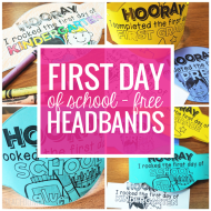 FREE First Day of School Headband Crowns