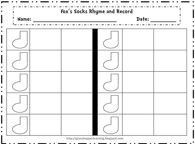 Suess Week Rhyme and Record Worksheet Teach Junkie – Rhyming Worksheets