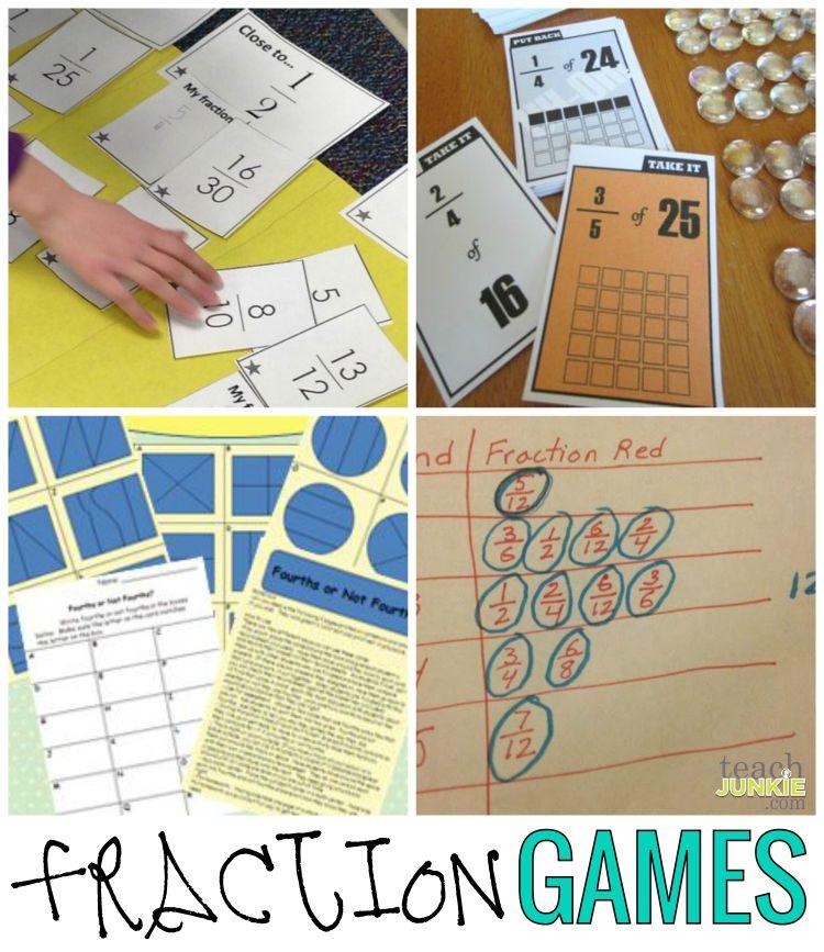 Fraction Games - Teach Junkie