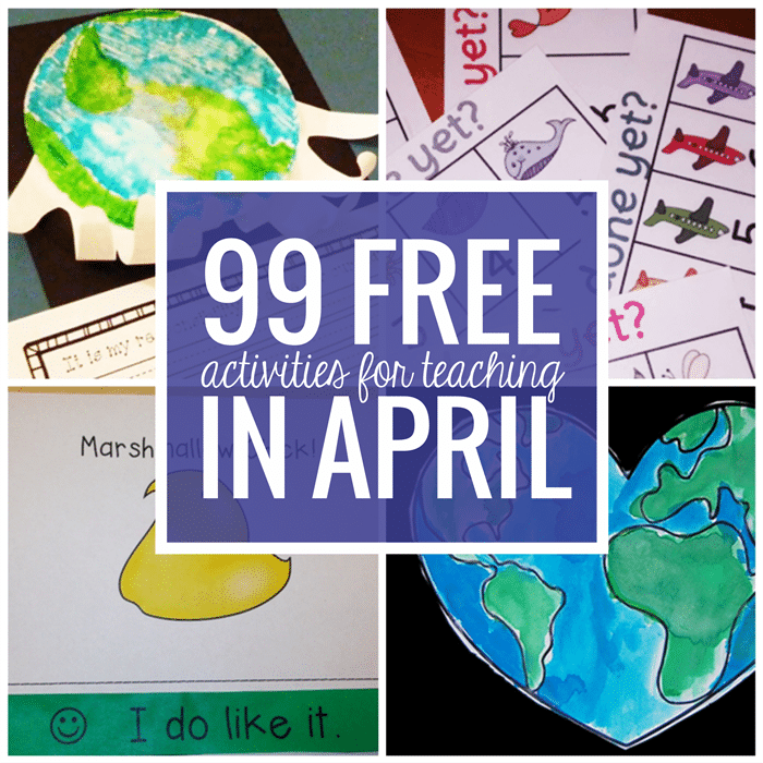 Free April Activities and Printable Resources - Teach Junkie