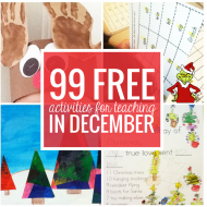 Free December Activities and Printable Resources