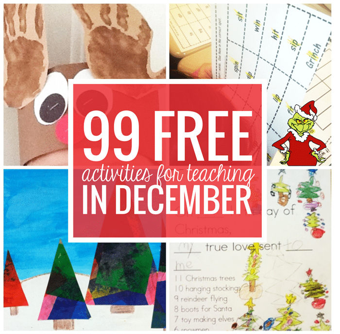 Free December Activities and Printable Resources - Teach Junkie