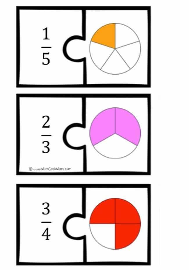 Fraction Math Puzzles {Printable} - Teach Junkie