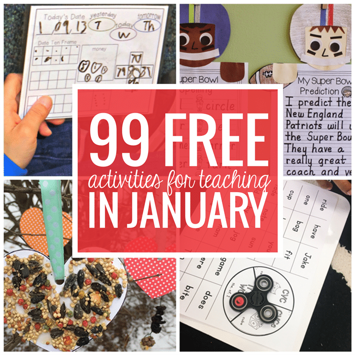 Free January Activities and Printable Resources - Teach Junkie