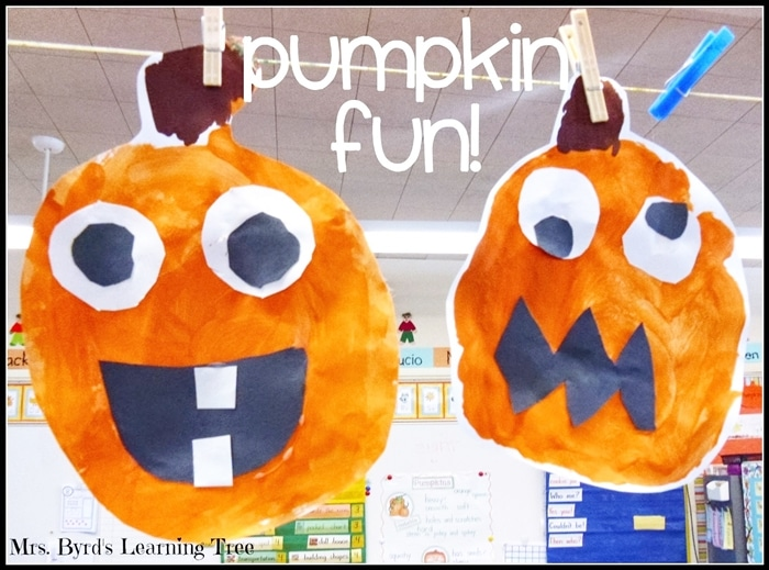 Free October Activities and Printable Resources - Paper pumpkins and writing prompt