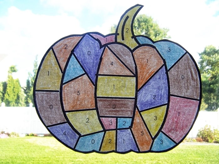 Free October Activities and Printable Resources - math game patchwork pumpkin
