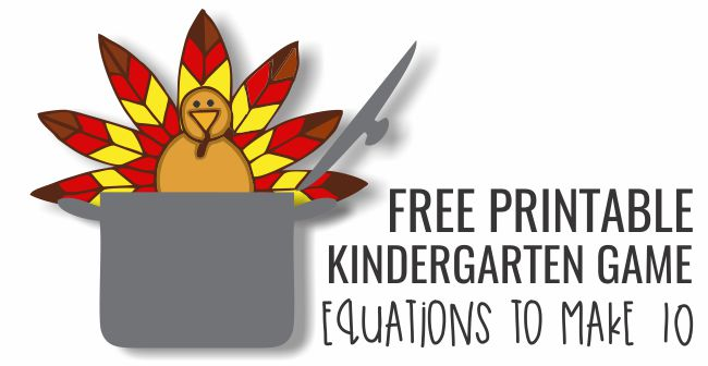Free Printable Kindergarten Game Turkey in the Pot