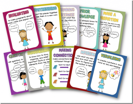 Free Reading Comprehension Strategy Posters