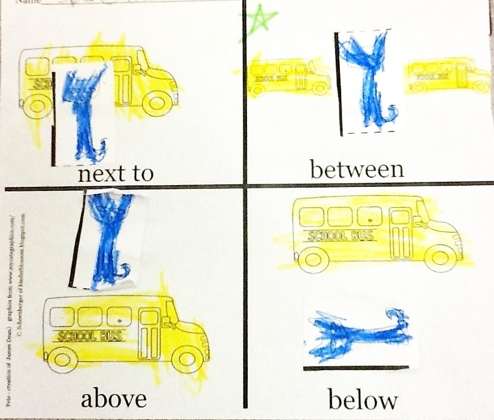 Free September Activities and Printable Resources - Pete the cat position words worksheet and emergent reader