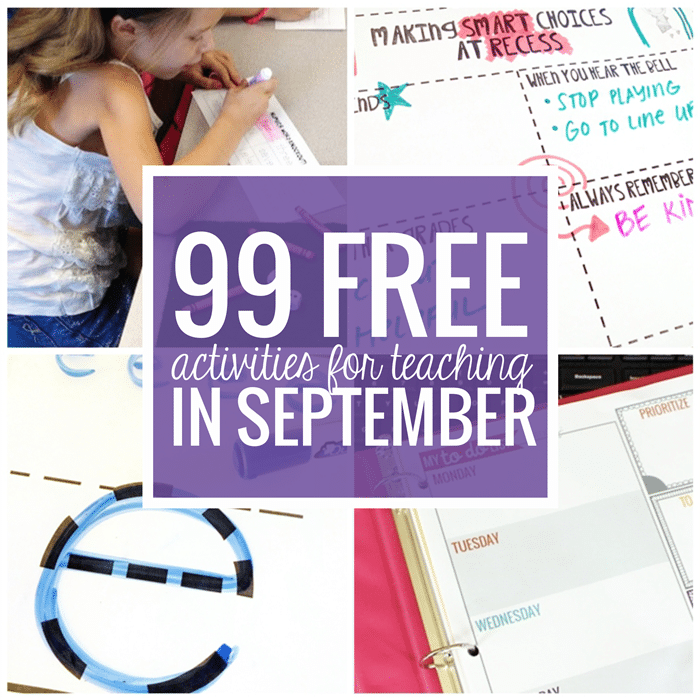 Free September Activities and Printable Resources - Teach Junkie