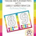 Free Playdough Number Mats 1-10 {Printable} Teach Junkie