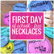 FREE First Day of School Necklaces (Editable)