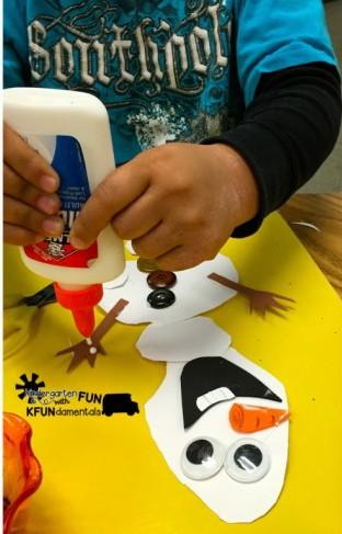 Frozen Snowman Olaf Craft Activity - Teach Junkie