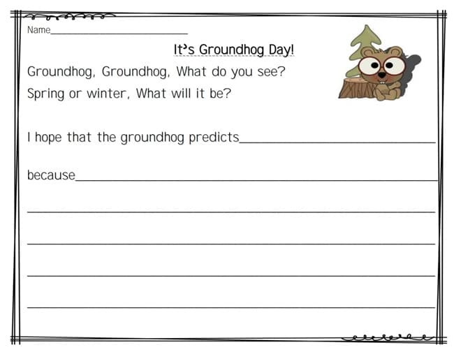 Its Groundhog Day 16 Free Teacher Ideas Teach Junkie – Groundhog Day Worksheets Free