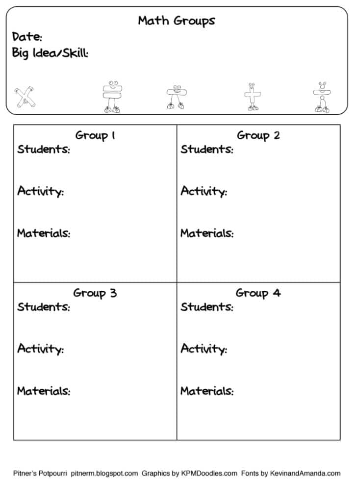 Guided Math Book Study Freebie