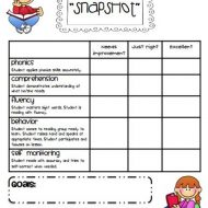 "Guided Reading ""Snapshot"" Assessments"