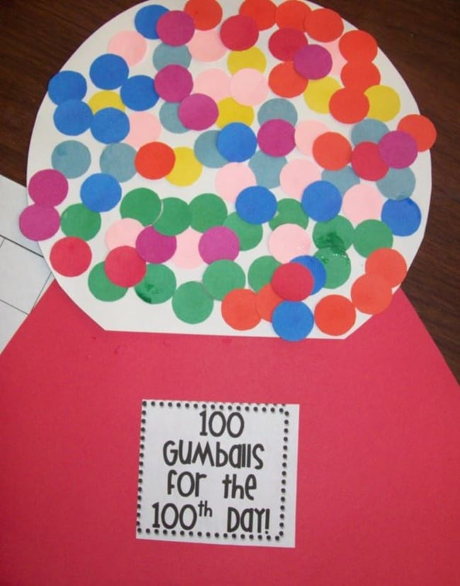 45 Best 100th Day of School Resources - Gumballs For the 100th Day - Teach Junkie