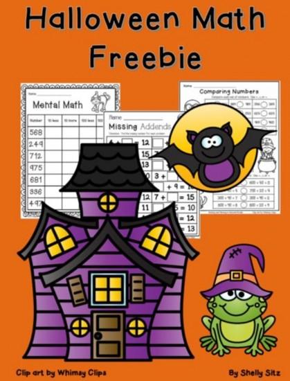 Halloween Worksheets for 2nd Grade {Math}