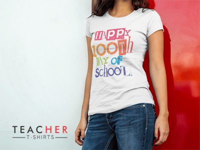 Happy 100th Day of School Teacher Shirt