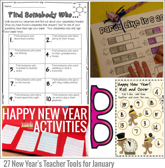 Happy New Year Activities: 27 New Year's Teacher Tools for January - Teach Junkie