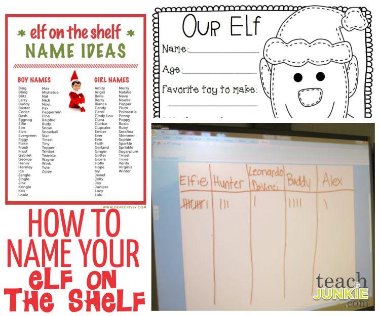 How to Name Your Class Elf - TeachJunkie.com