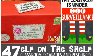 47 Elf On The Shelf Classroom Escapades and Resources