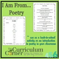 "Easy ""I Am From…"" List Poem Lesson"