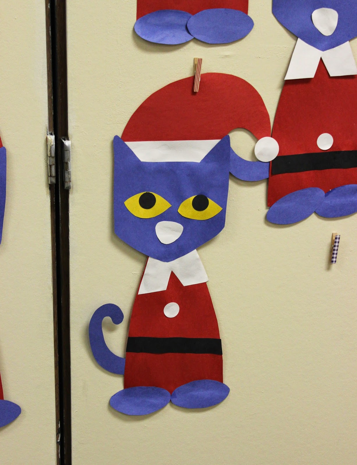Pete the Cat Saves Christmas Craft Template - Teach Junkie
