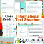 Informational Text Structures Bookmarks {Printable}