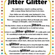 Jitter Glitter Back to School Freebie