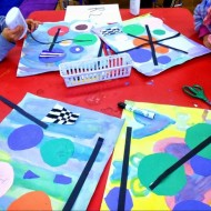 First Grade Art: Kandinsky Inspired Project