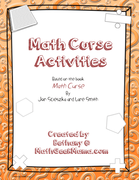 "Problem Solving Printables for ""Math Curse"" - Teach Junkie"