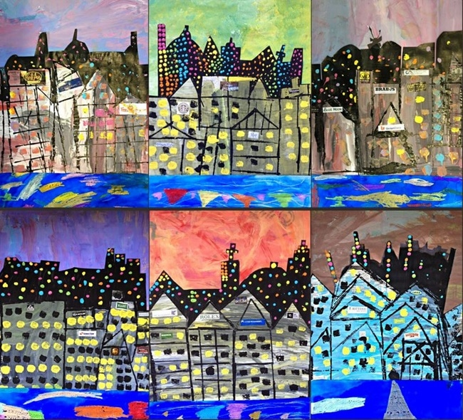 Fun Cityscape Collages Art for Young Kiddos - Teach Junkie