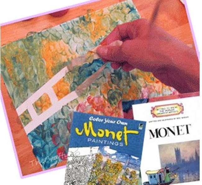 Beautifully Easy Spring Monet Art Project - Teach Junkie