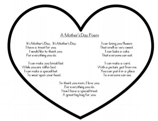 Quick Mother's Day Poem {Printable} - Teach Junkie