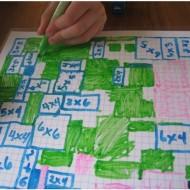 No Prep Multiplication Grid Game