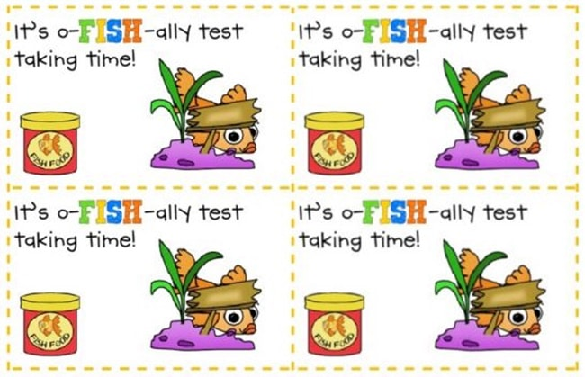 Standardized Testing - 12 Ways To Brighten Testing Time - O-fish-ally Test Time - Teach Junkie