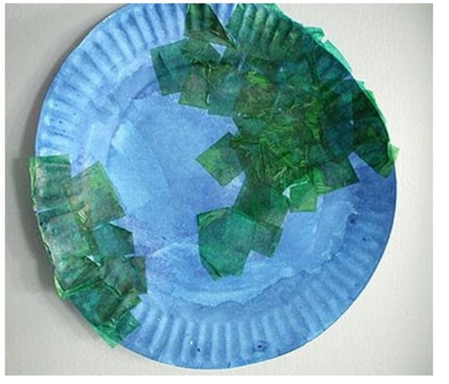 10 Teacher Friendly Earth Day Go-To Activities - Paper Plate Globe - Teach Junkie