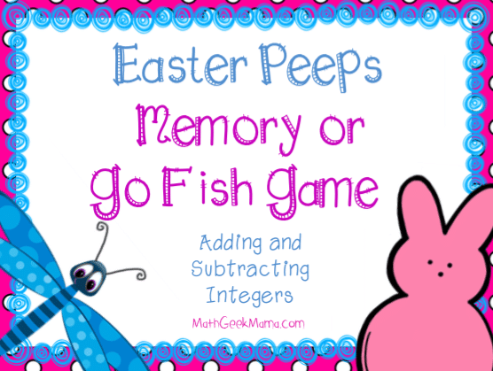 Adding Integers With Peeps Cool Math Game