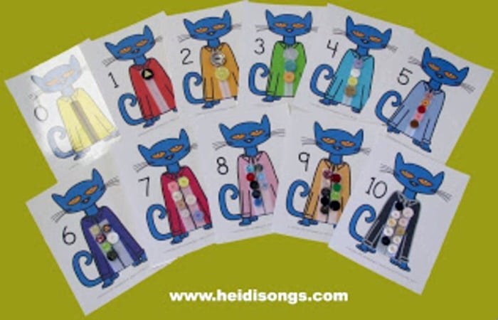 Pete the Cat Matching Sets Counting Mats