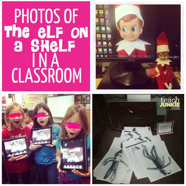 Photos of Elf on the Shelf in a Classroom - TeachJunkie.com