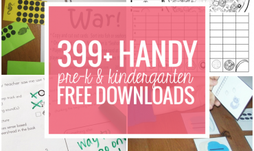 399+ Pre-k and Kindergarten Free Downloads and Teacher Printables