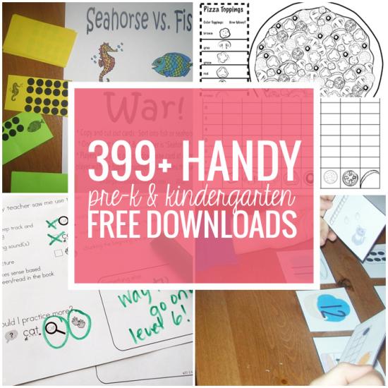 Pre-k and Kindergarten Free Downloads and Teacher Printables