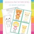 Preschool Goldilocks and the Three Bears Printable Worksheet - Character Retelling