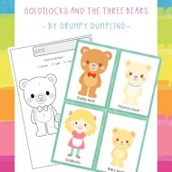 Preschool Goldilocks and the 3 Bears Printables {Free}