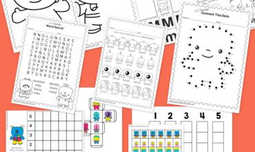 Printable Monsters Worksheets {Kindergarten}