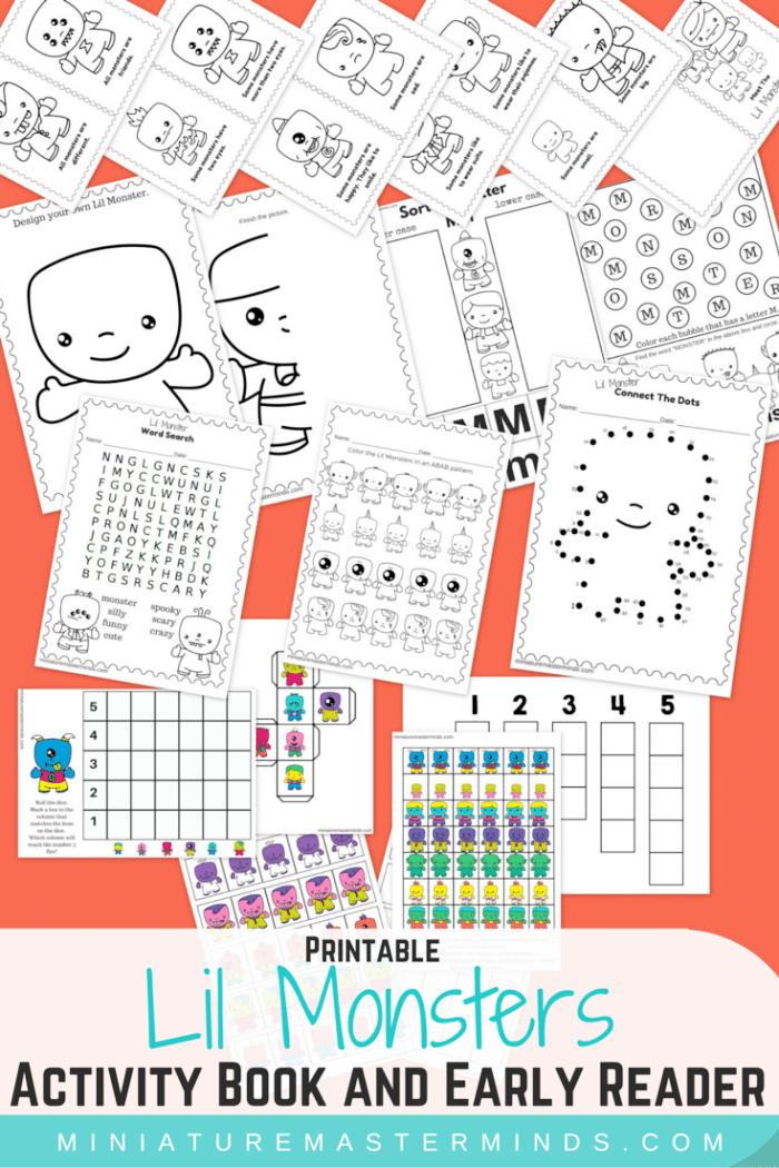 Monsters Worksheets {Kindergarten} - Teach Junkie